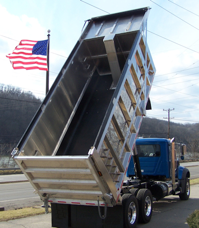 We Specialize in Dump Truck Bed Liners